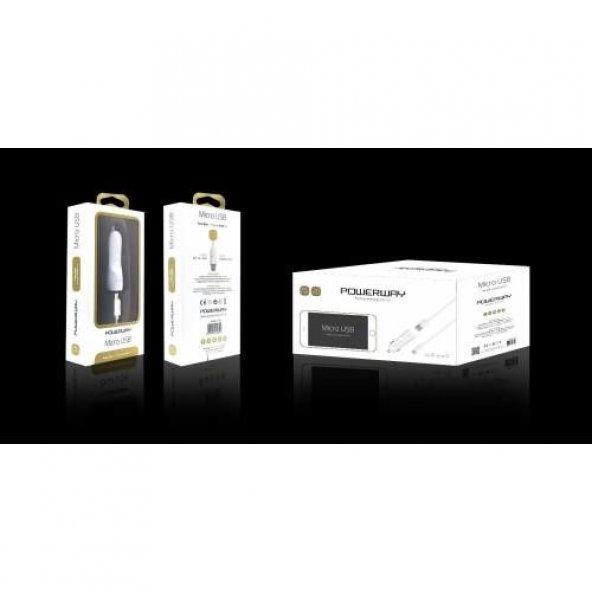 Powerway X-233 Samsung Data Şarj Kablosu + 2li Çakmaklık