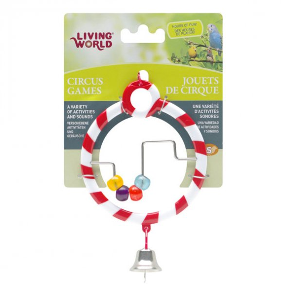 Living World Zilli Boncuklu Halka (Kırmızı)