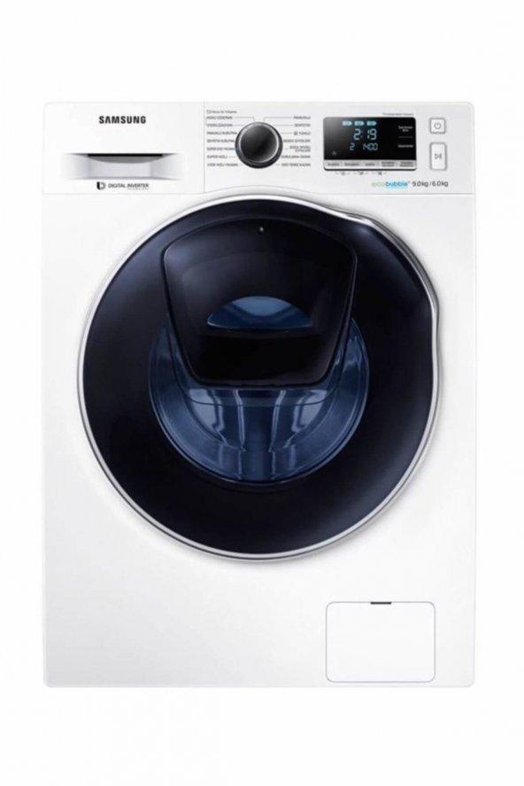 Samsung WD90K6B10OW A 9 kg Yıkama / 6 kg Kurutma 1400 Devir Çamaşır