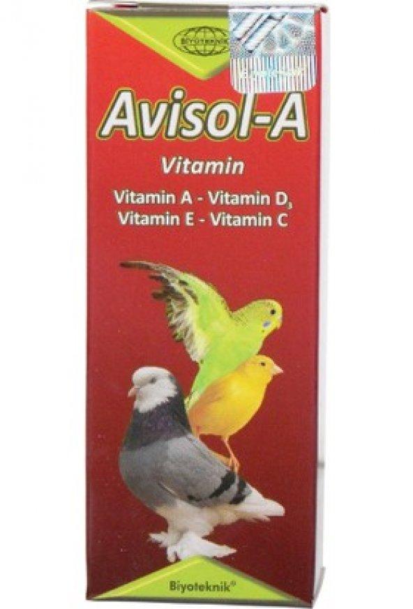 Biyoteknik Avisol-A kuşlar için vitamin 20 cc