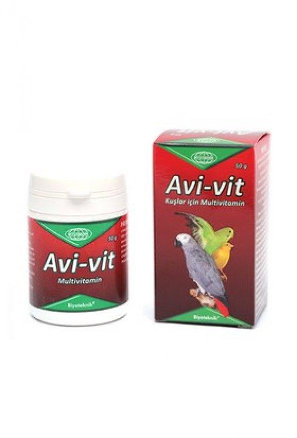 Biyoteknik Avi-vit Kuşlar için multivitamin 50 gr
