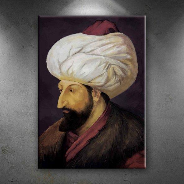 Fatih Sultan Mehmet Portre Osmanlı Tarihi Dekoratif Canvas Tablo