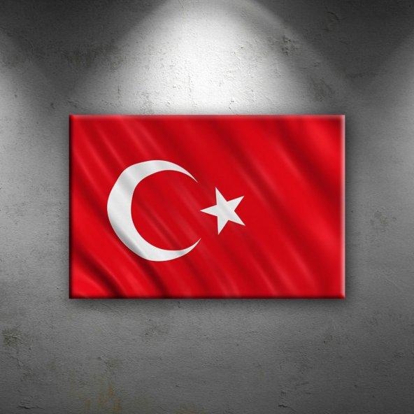 Türk Bayrağı Ay Yıldız Kırmızı-2 Kanvas Tablo