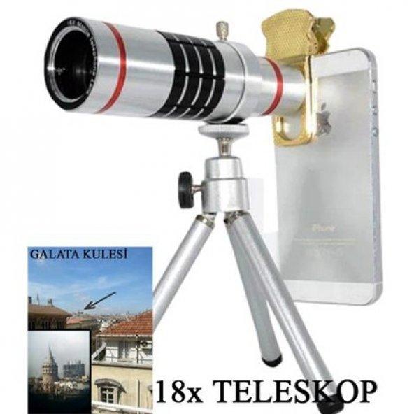 Xiaomi Redmi Note 4 18X Teleskop Telefon Kamera Lensi