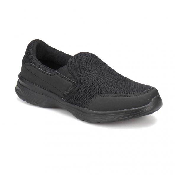 Kinetix Keya II Siyah Bağsız Hafifi Orotopedik Erkek Ayakkabı