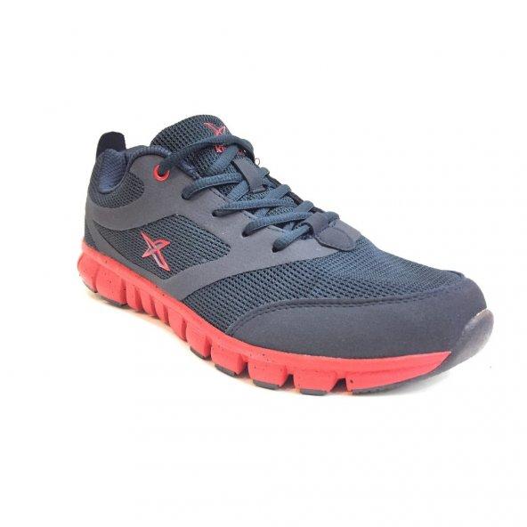 Kinetix 100232570 Almera Lacivert-Kırmızı Erkek Spor Ayakkabı
