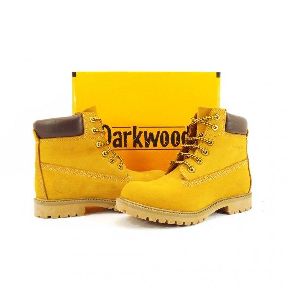 Darkwood 3507 - Sarı Hakiki Nubuk Deri Erkek Bot