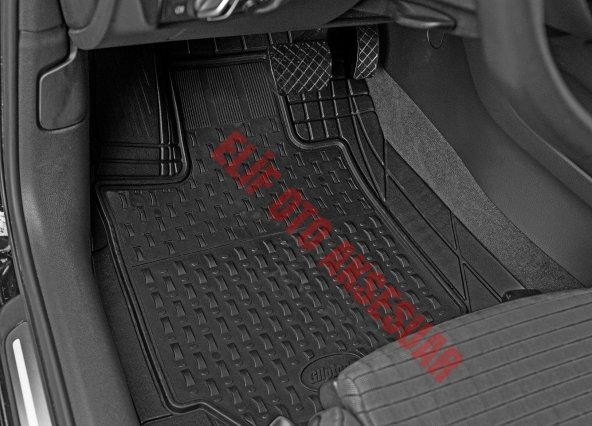 Ford Fiesta 2002-2008  3D Havuzlu Kauçuk Altı Cırtlı Paspas
