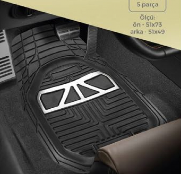 Honda Civic 2016 Snr  Havuzlu Kauçuk Paspas Takımı