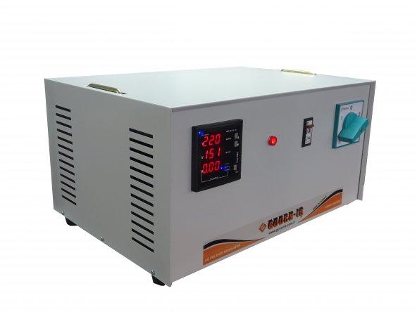 Voltaj Regülatörü Monofaze 5KVA 150/250V Microişlemcili Tam Otomatik