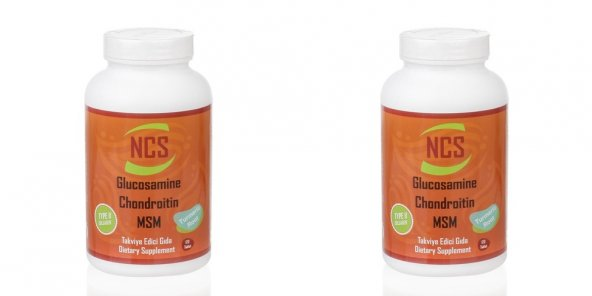 NCS Glucosamine Chondroitin MSM TYPE II Collagen Turmeric 120 tab.2 kutu  240 Tab