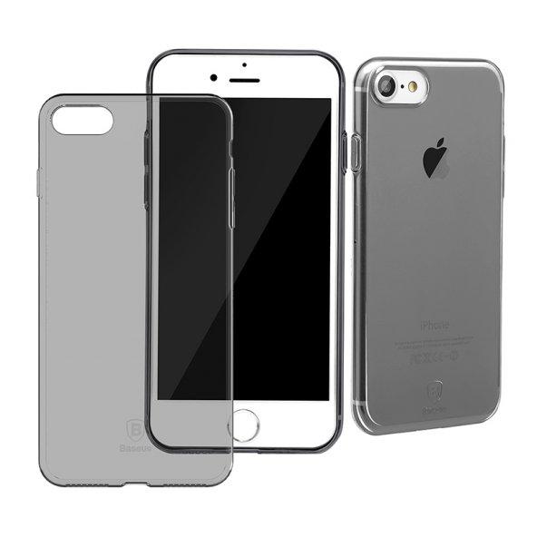 Baseus (With-Pluggy) Simple Kılıf iPhone 7 Plus/8 Plus Şeffaf Siyah