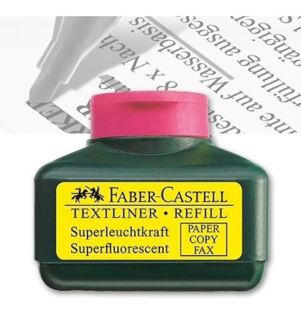 FABER CASTELL MÜREKKEP PEMBE FOSFORLU KALEM MÜREKKEBİ 154928