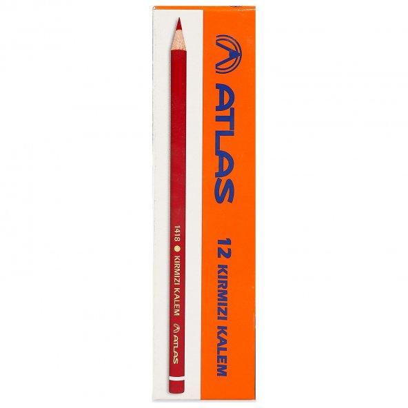 Atlas Kırmızı Kopya Kalemi 12 Li Kırmızı Kurşun Kalem Faber Caste