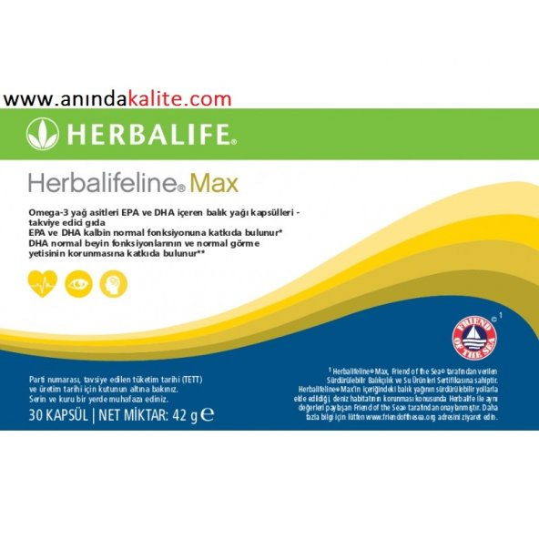 HERBALİFE Herbalifeline Max OMEGA 3 TAKVİYESİ