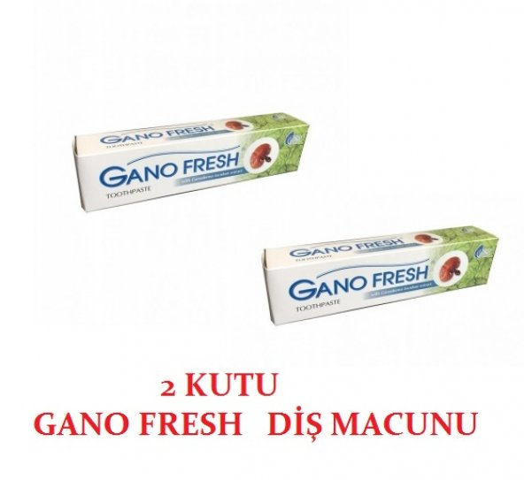 2 ADET Gano Fresh Diş Macunu 150 gr Reishi Mantarlı 2li paket