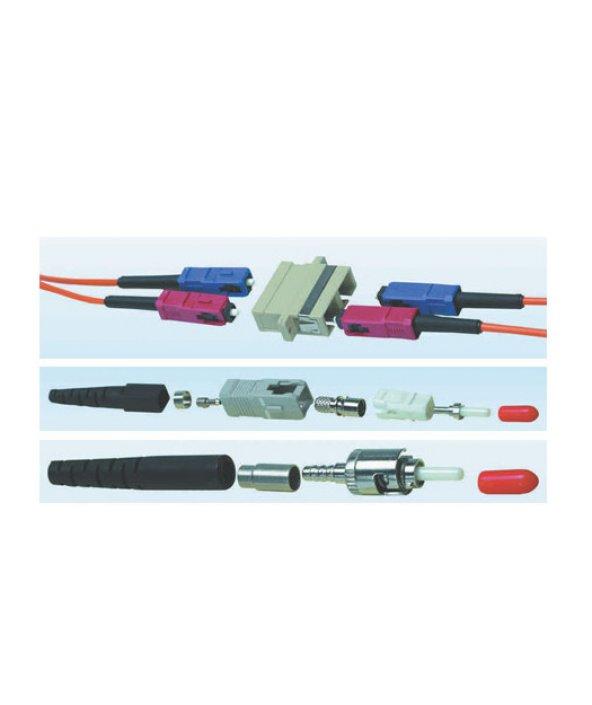 HCS LC Duplex Plastik Adaptor Mavi SM