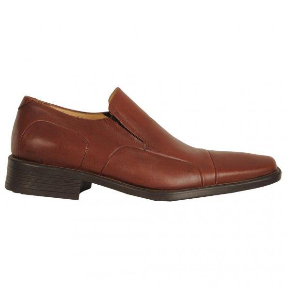 Fearful 067 Taba 100 Deri Günlük Erkek Klasik Kundura Ayakkabı