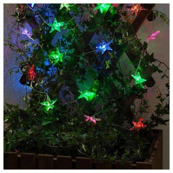Büyük Yıldız Şekilli Renkli Led Dekoratif Aydınlatma Led Işık 9m