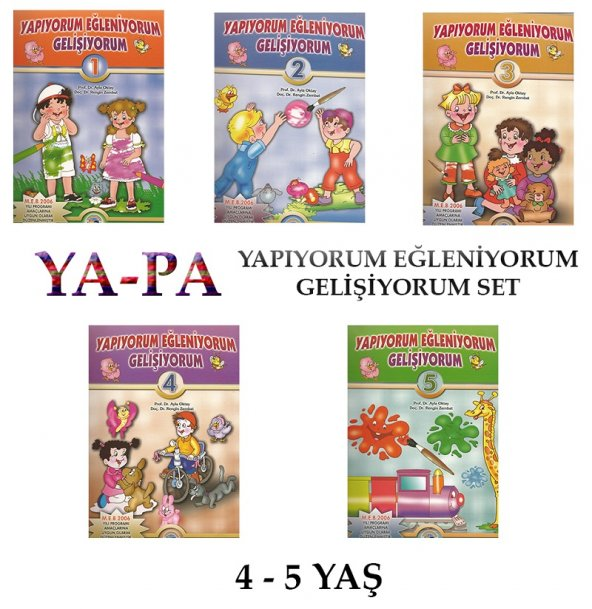 YA-PA Yapıyorum Eğleniyorum Gelişiyorum Set 4-5 Yaş