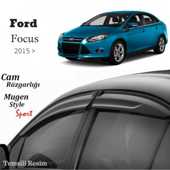 Ford Focus 4 Sedan Mugen Cam Rüzgarlığı 2015 Sonrası