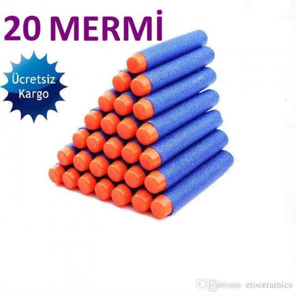 Nerf Yedek Mermi 20 Adet - Tüm Nerflerle Uyumlu