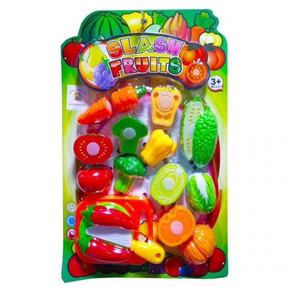 kesilebilen meyve sebzeler eğitici 18 parça