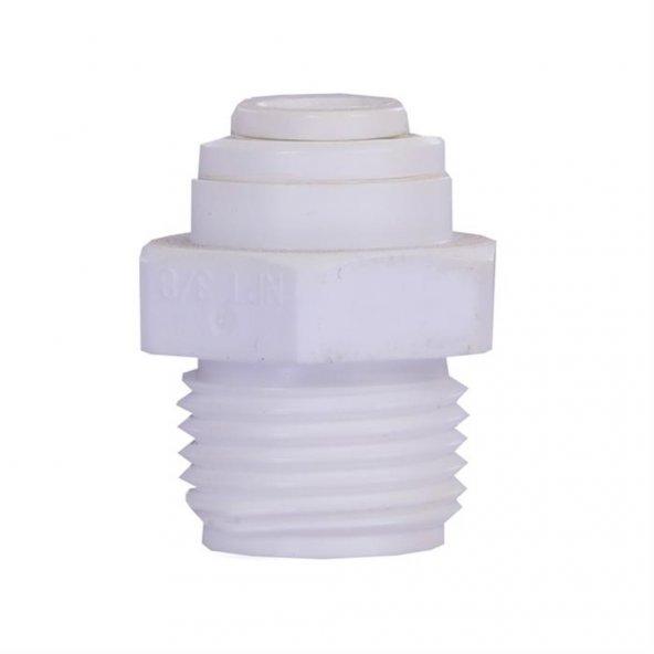 Su Arıtma Cihazı Filtre Bağlama Nipeli 3/8 Quick - 3/8 Dış Diş