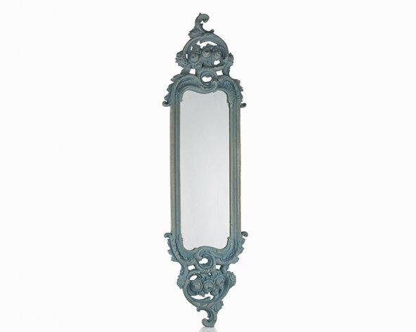 Porio Pr30-1111-Mavi Renk Uzun İnce Ayna 115*32