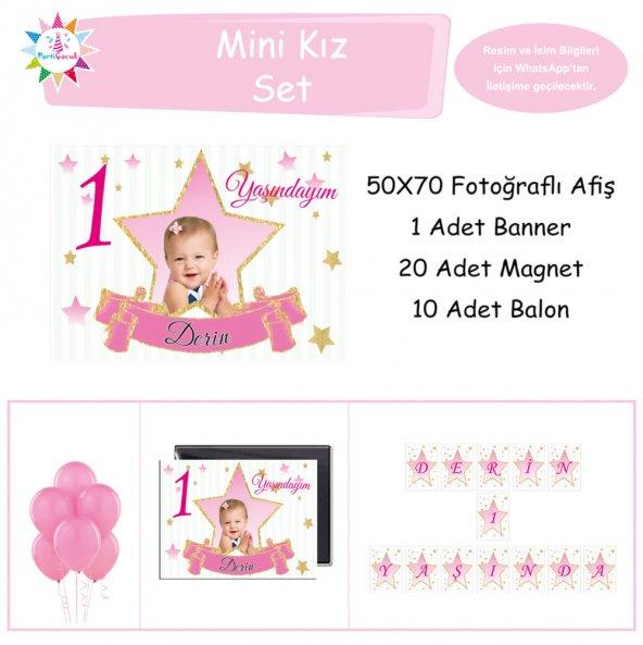 Gold Yıldız Mini Set Parti Çocuk