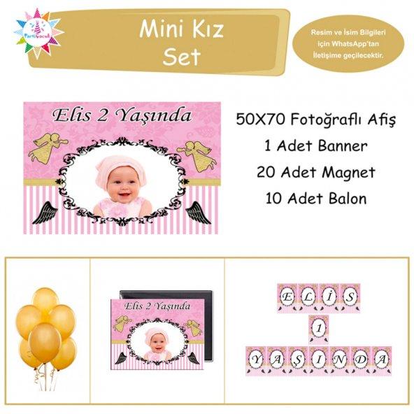 Gold Melek Mini Set Parti Çocuk