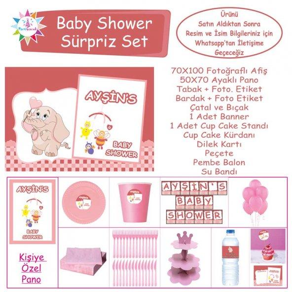Baby Shower Çocuk Seti Kız Çocuğu Sürpriz