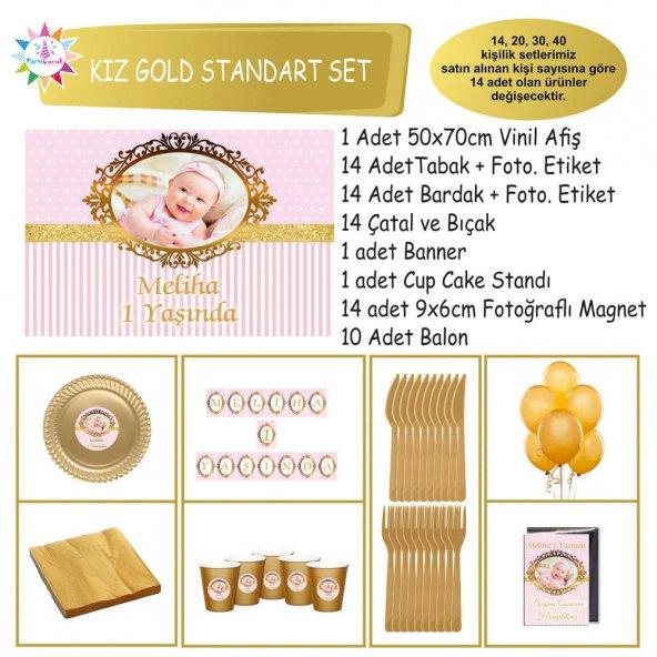 Gold Dikey Konsept Standart Set | Parti Çocuk