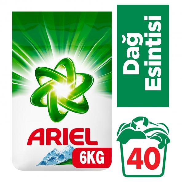 Ariel Dağ Esintisi 6 kg Beyazlar için Toz Çamaşır Deterjanı