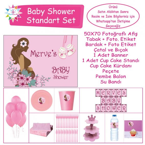 Baby Shower Çocuk Seti Kız Çocuğu Standart