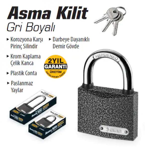 Asma Kilit 63 MM + 2 ADET FİYATI, SGS1325-