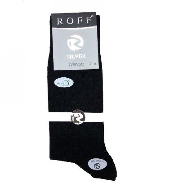 Roff 14005 Silver Mikro Bambu Dikişsiz Erkek Çorabı