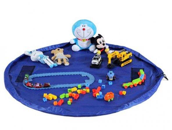 Taşınabilir Büyük Oyuncak Hurcu - Mavi