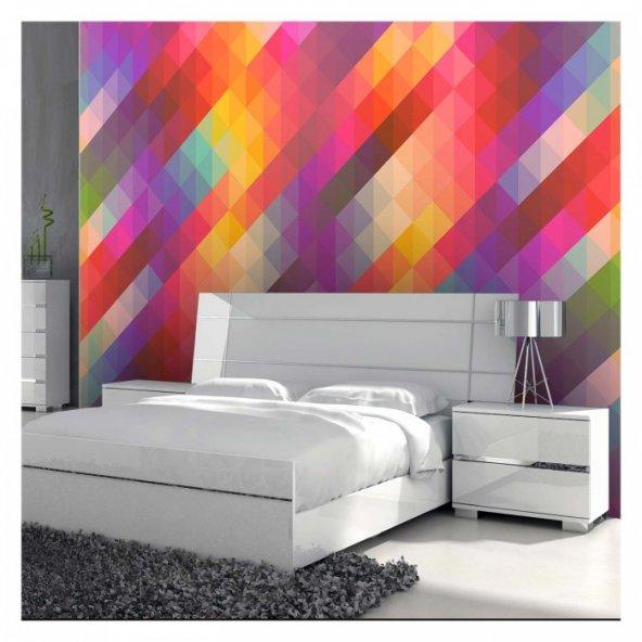 Colorful Triangles 178x126 cm Duvar Resmi