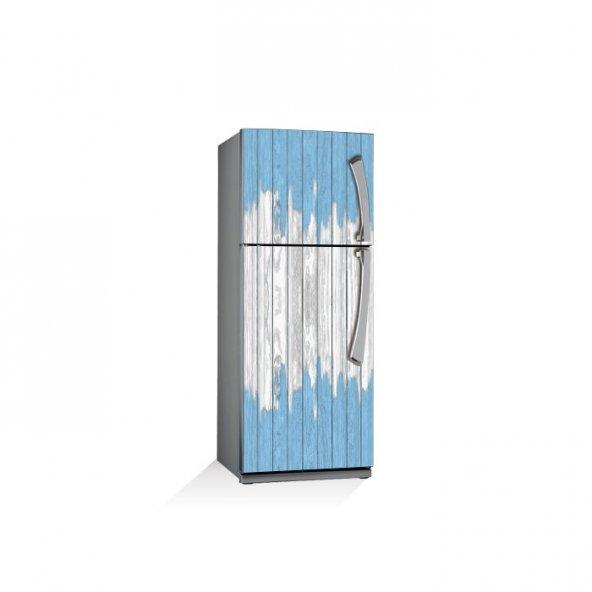 Tahta Çitler Buzdolabı Sticker