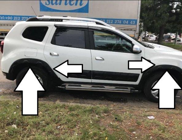 Dacia Duster 2018 Yeni Kasa Çamurluk Üzeri Dodik Seti 8 Parça