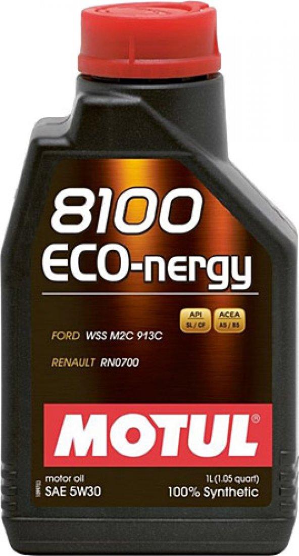 Motul 8100 Eco Nergy SAE 5W30 1 Litre Motor Yağı