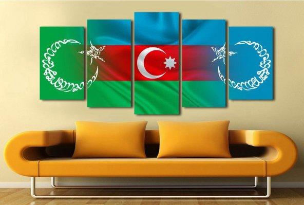 5 Parça Azerbaycan Temalı Kanvas Tablo