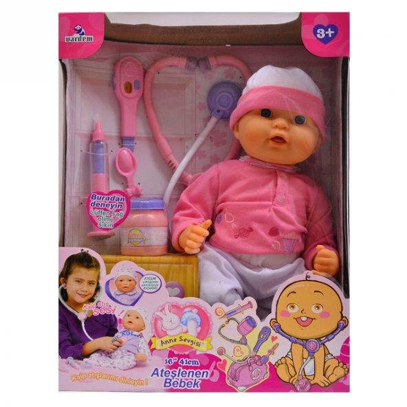 Yabidur Oyuncak Anne Sevgisi Doktor Setli Ateşlenen Bebeğim
