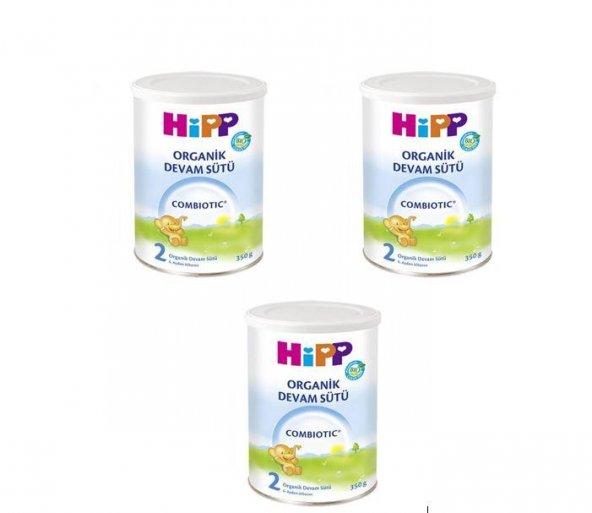 Hipp 2 combiotic organik devam sütü 350 gr 3lü