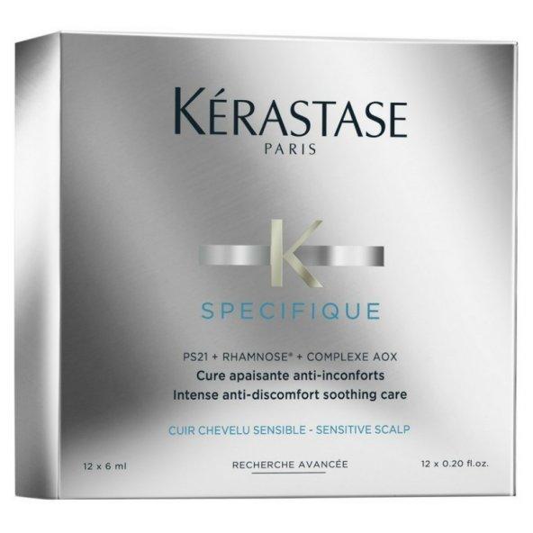 Kerastase Specifique Cure Apaisante Anti-Inconforts Hassas Baş Derisi  Rahatlatıcı Yoğun Bakım Kürü 12x6ml