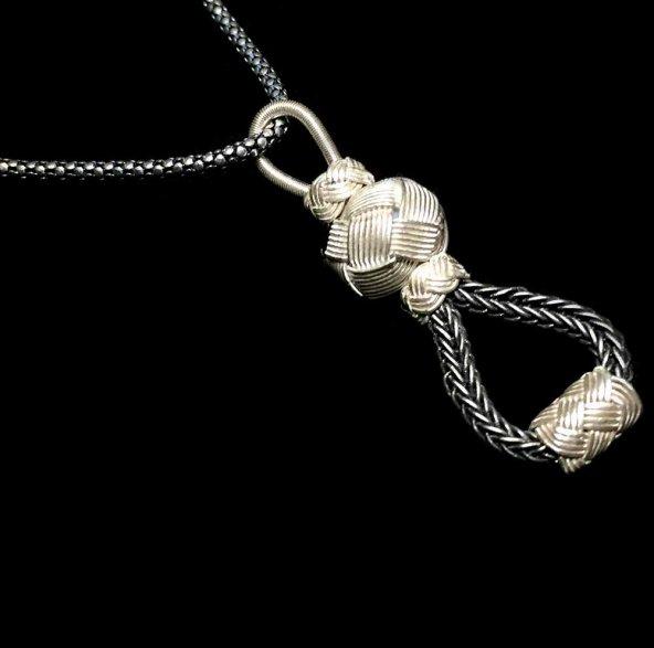 1000 Ayar El Örmesi Kazaziye Gümüş Bayan Kolye