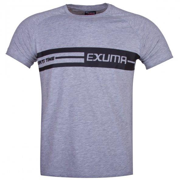 EXUMA ERKEK BASKILI T-SHIRT 118-2127
