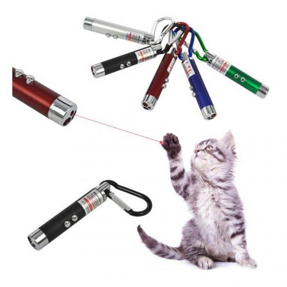 İki Fonksiyonlu Lazer Kedi Oyuncağı