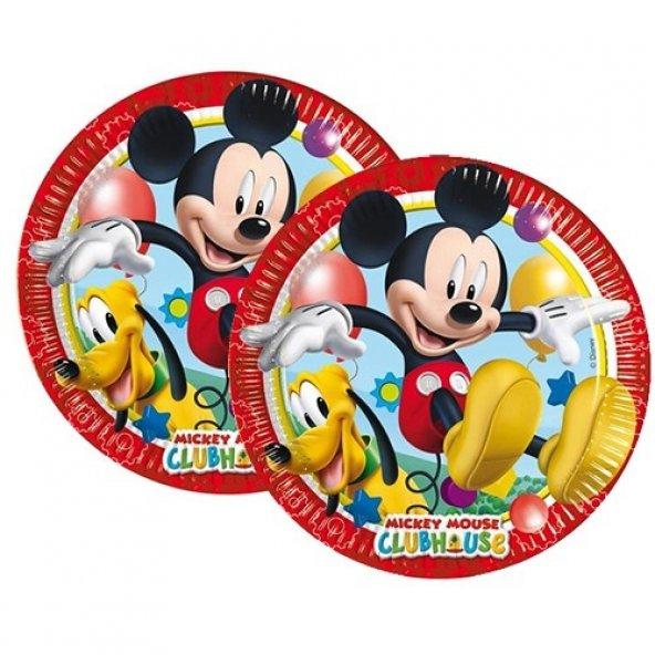 8 Adet Mickey Mouse Doğum Günü Parti Masası Tabağı